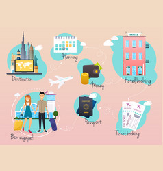 travel and tourism infographic infographics for vector image