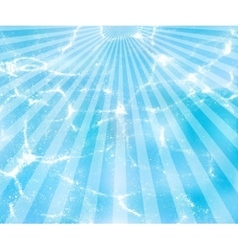 water background with sun rays vector image