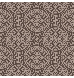 Brown floral seamless wallpaper pattern vector image