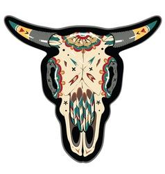 Buffalo Skull vector image vector image