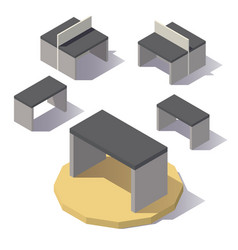 isometric lowpoly table vector image