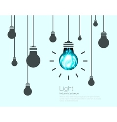 Light Bulbs Background Industrial Science Idea vector image vector image