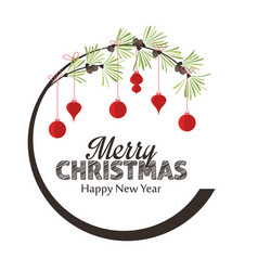 merry christmas decorations vector image