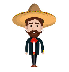 mexican mariachi avatar character vector image vector image