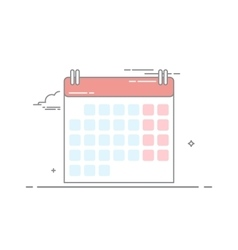 The concept of wall-calendar made in a linear vector image vector image