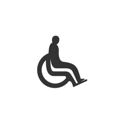 Disabled icon isolated on white background vector image