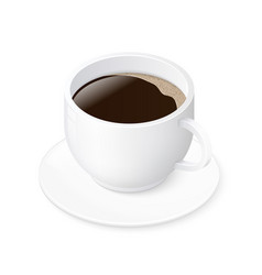 espresso coffee cup isolated on white background vector image