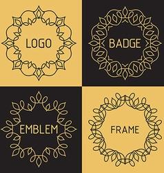 outline frames and badges vector image