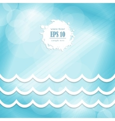 wave design on a blue background vector image