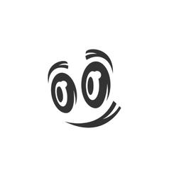 Cartoon eyes icon isolated on white background vector image
