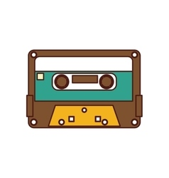cassette old record icon vector image