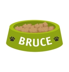 dog dish object vector image