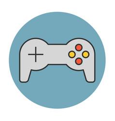 joystick flat line icon vector image vector image
