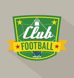 Soccer or Football Badge vector image