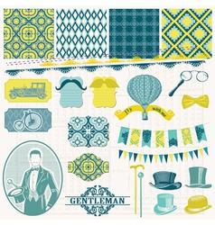 Vintage Gentlemens Accessories Set vector image