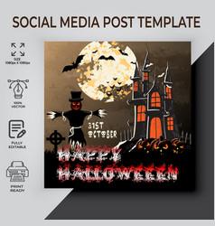31st halloween post template vector