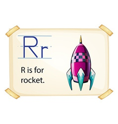 A letter R for rocket vector