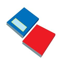 A pair of books are placed vector