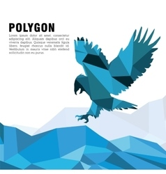 Animal design Polygon concept Shape and Origami vector