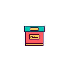 archive icon design essential icon design vector image