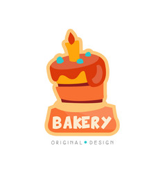Bakery shop logo design template badge for bread vector