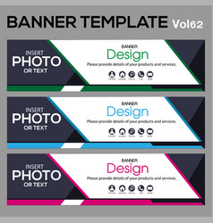 Banner template for web design vector