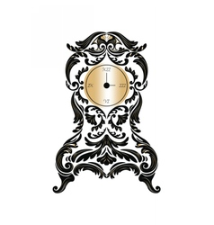 Baroque Classic Golden clock vector image