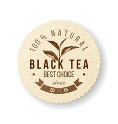 Black Tea label vector image