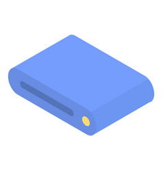 Blue router icon isometric style vector