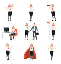 Businesswomen characters people in business suits vector