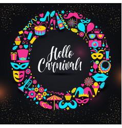 carnival on black in neon vector image