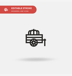 cart simple icon symbol vector image