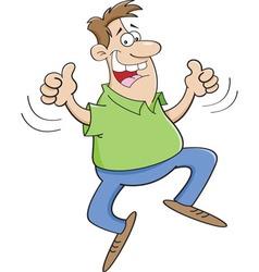 Cartoon man jumping vector