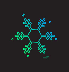 christmas snowflake icon design vector image