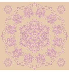 Circular pattern - irises vector