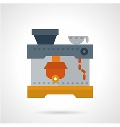 Coffee machine flat icon vector