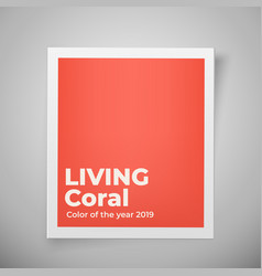 color year 2019 living coral palette vector image