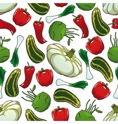 Colorful seamless pattern of fresh vegetables vector image