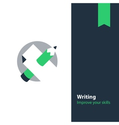 Creative writing and storytelling education vector image