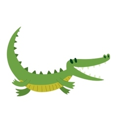 Cute crocodile character vector image