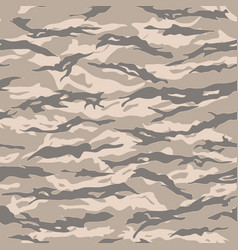Desert tiger stripe camouflage seamless patterns vector