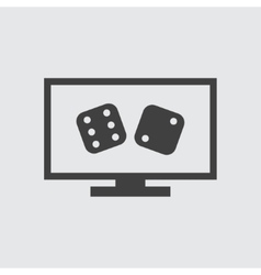 Dice on screen icon vector image