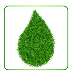 Drop green grass background 1 vector