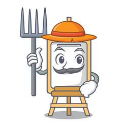 Farmer easel character cartoon style vector