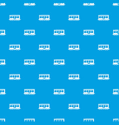 fast train pattern seamless blue vector image