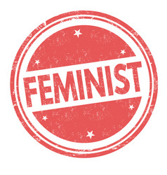 feminist sign or stamp vector image