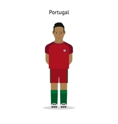Football kit Portugal vector image