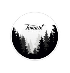 Forest logo design template beautiful nature vector