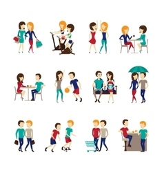 Friends Icons Set vector image
