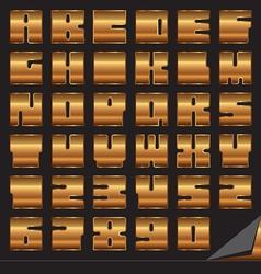 Gold font set vector